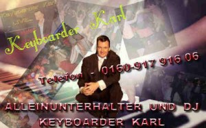 Party Dj und Alleinunterhalter Keyboarder karl