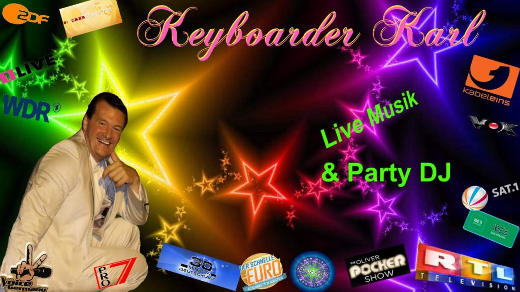Entertainer und Party Profi Keyboarder Karl - Tausende Referenzen aus TV und Rundfunk sowie Hochzeit Geburtstag und Firmen Feier